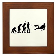 Scuba Evolution Framed Tile