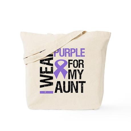 IWearPurple Aunt Tote Bag
