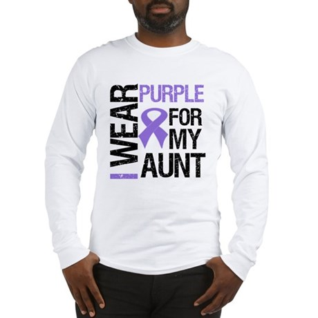 IWearPurple Aunt Long Sleeve T-Shirt