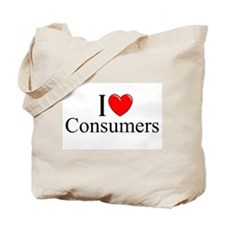"""I Love (Heart) Consumers"" Tote Bag"