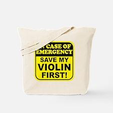 Save My Violin Tote Bag