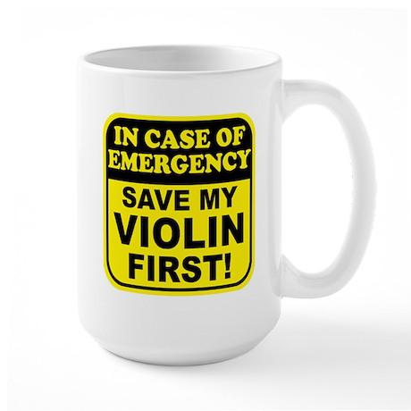 Save My Violin Large Mug