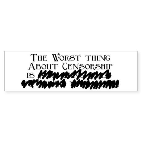Censorship Bumper Sticker