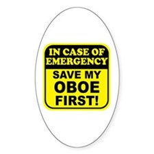 Save My Oboe Oval Decal