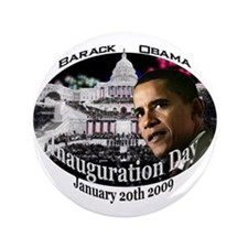 "Barack Obama Inauguration Day 3.5"" Button"