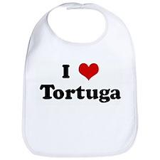I Love Tortuga Bib