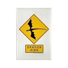 Dragon XING Rectangle Magnet