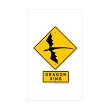 Dragon XING Rectangle Decal