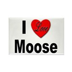 I Love Moose Rectangle Magnet (10 pack)