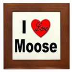 I Love Moose Framed Tile