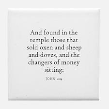 JOHN  2:14 Tile Coaster