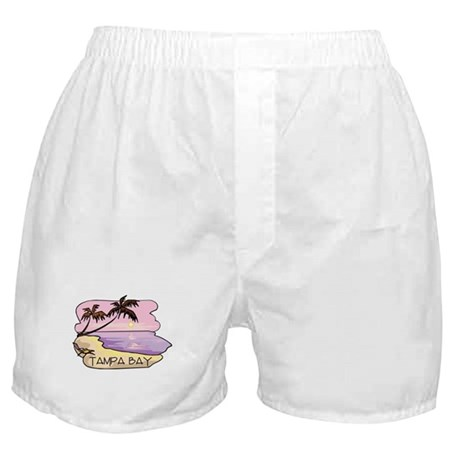 Tampa Bay Beach Scene Boxer Shorts