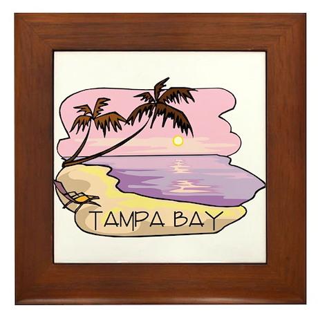 Tampa Bay Beach Scene Framed Tile