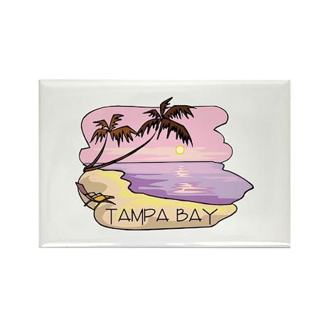Tampa Bay Beach Scene Rectangle Magnet