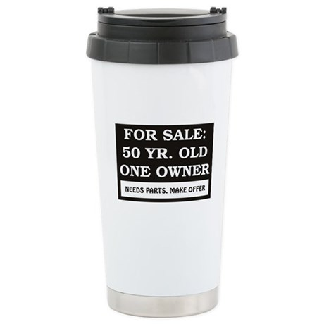 For Sale 50 Year Old Bi Stainless Steel Travel Mug