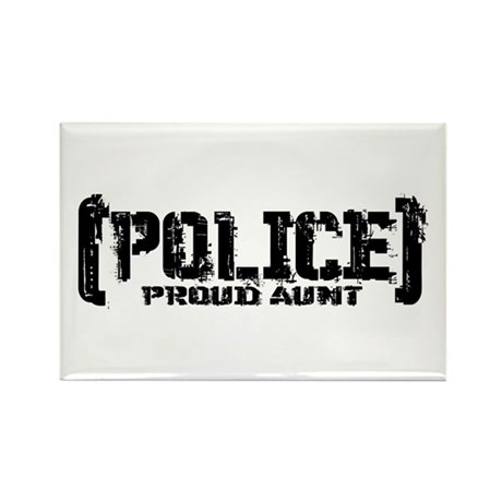 Police Proud Aunt Rectangle Magnet
