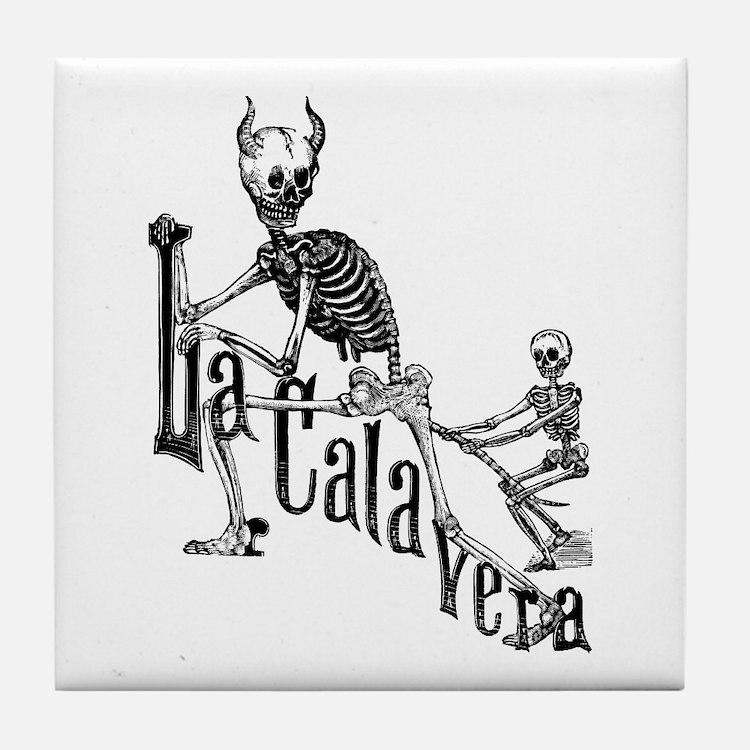 Calavera del Diablo Tile Coaster