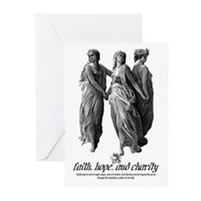 Faith, Hope, and Charity Greeting Cards (Pk of 20)
