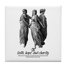 Faith, Hope, And Charity Tile Coaster