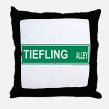 Tiefling Alley Throw Pillow