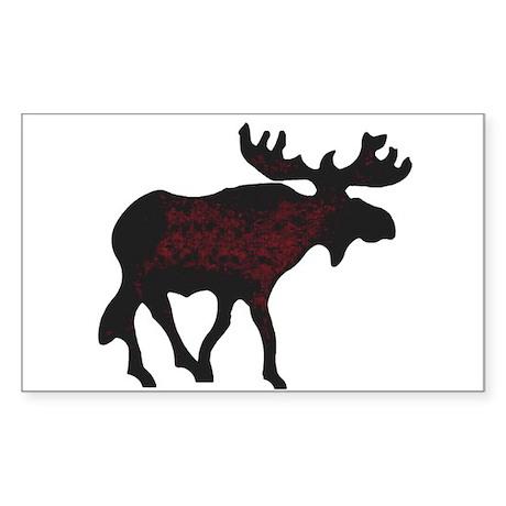 Moose Sticker (Rectangle)