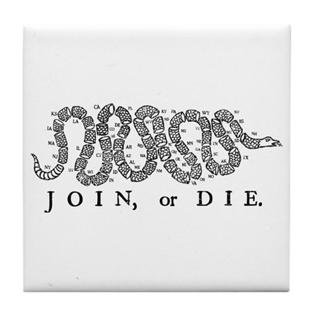 Join or Die 2009 Tile Coaster