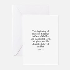 JOHN  2:11 Greeting Cards (Pk of 10)