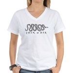 Join or Die 2009 Women's V-Neck T-Shirt