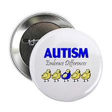 "Autism, Embrace Differences 2.25"" Button"