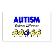 Autism, Embrace Differences Rectangle Decal