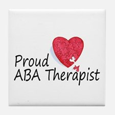 Proud ABA Therapist Tile Coaster