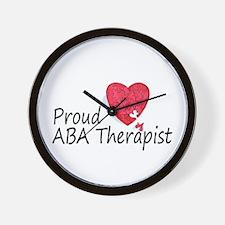 Proud ABA Therapist Wall Clock
