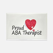Proud ABA Therapist Rectangle Magnet (10 pack)