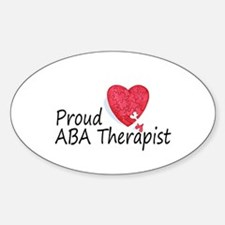 Proud ABA Therapist Oval Decal