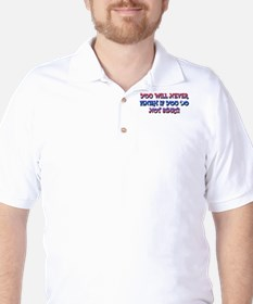 Lets think a moment Golf Shirt