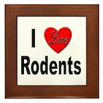 I Love Rodents Framed Tile
