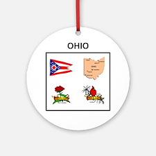 stae of ohio design Ornament (Round)