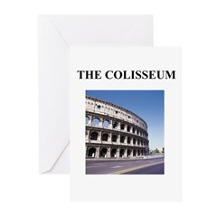 the colisseum rome italy gift Greeting Cards (Pk o