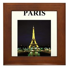 eiffel tower paris france gif Framed Tile