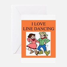 line dancing gifts and t-shir Greeting Card