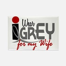 I Wear Grey For My Wife 32 Rectangle Magnet