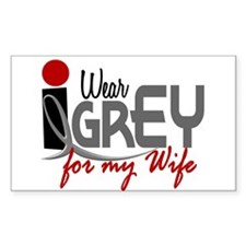 I Wear Grey For My Wife 32 Rectangle Decal