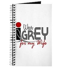 I Wear Grey For My Wife 32 Journal