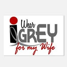 I Wear Grey For My Wife 32 Postcards (Package of 8