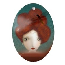 Head in the clouds...2 Oval Ornament