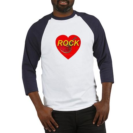 rock_guitar_heart Baseball Jersey