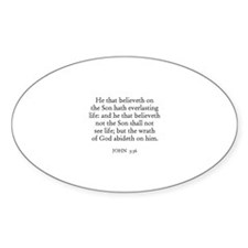 JOHN 3:36 Oval Decal
