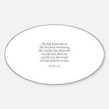 JOHN 3:36 Oval Decal