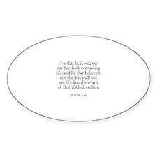 JOHN 3:36 Oval Stickers