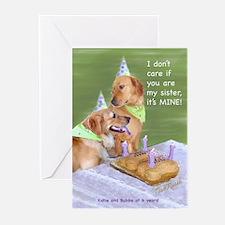 Golden Retriever Birthday Card (Pk of 10)